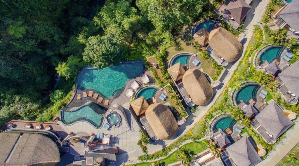 Villa resort 4 sao hồ bơi vô cực nhiều tầng gần Tegallalang Ubud