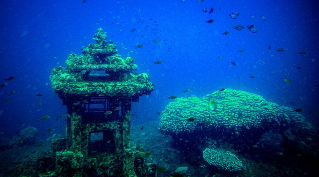 Đền Underwater Hindu
